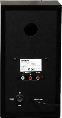 Мультимедиа акустика Sven SPS-702 (черный) - вид сзади