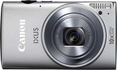 Компактный фотоаппарат Canon IXUS 255 HS (серебристый) - вид спереди