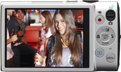 Компактный фотоаппарат Canon IXUS 255 HS (серебристый) - вид сзади