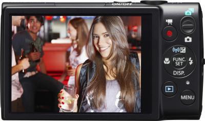 Компактный фотоаппарат Canon IXUS 255 HS (черный) - вид сзади