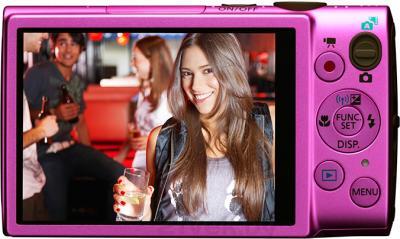 Компактный фотоаппарат Canon IXUS 255 HS (розовый) - вид сзади