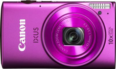 Компактный фотоаппарат Canon IXUS 255 HS (розовый) - вид спереди