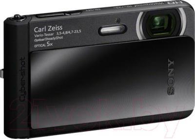 Компактный фотоаппарат Sony Cyber-shot DSC-TX30 (черный) - общий вид
