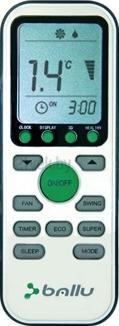 Сплит-система Ballu BSR-09HN1 - пульт