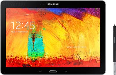 Планшет Samsung Galaxy Note 10.1 2014 Edition SM-P601 (32GB, 3G, Black) - фронтальный вид со стилусом