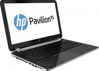 Ноутбук HP Pavilion 15-n028sr (F2U11EA) - крышка