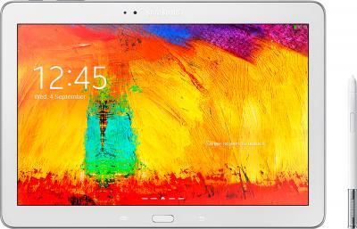 Планшет Samsung Galaxy Note 10.1 2014 Edition (32GB, 3G, White, SM-P6010ZWESER) - фронтальный вид со стилусом
