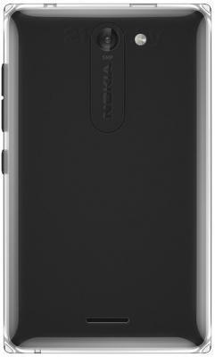 Мобильный телефон Nokia Asha 502 Dual (Black) - задняя панель