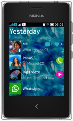 Мобильный телефон Nokia Asha 502 Dual (Black) - общий вид