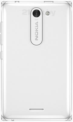 Мобильный телефон Nokia Asha 502 Dual (белый) - задняя панель