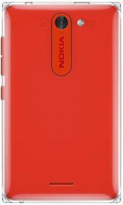 Мобильный телефон Nokia Asha 502 Dual (Red) - задняя панель
