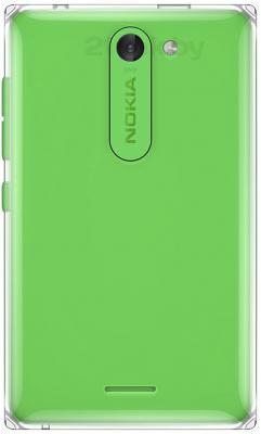 Мобильный телефон Nokia Asha 502 Dual (зеленый) - задняя панель