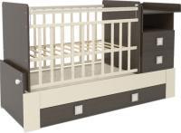 Детская кровать-трансформер СКВ 830038-9 (венге-бежевый) -