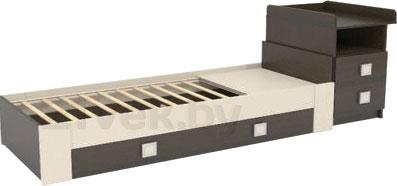 Детская кровать-трансформер СКВ 830038-9 (венге-бежевый) - общий вид