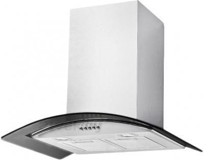 Вытяжка купольная Backer QD60A-G6L120 (60, белый/темное стекло) - вытяжка может отличаться от  фото (жироулавливающий фильтр 1, а не 2/лампы подсветки стоят сзади, а не спереди)