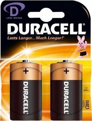 Батарейки D Duracell Basic LR20 (2шт) - общий вид