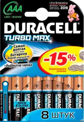 Батарейки ААА Duracell TurboMax LR03 (8шт) - общий вид