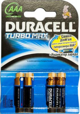 Батарейки ААА Duracell TurboMax LR03 (4шт) - общий вид