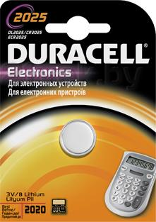 Батарейка CR2025 Duracell 2025 (1шт) - общий вид