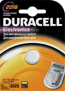 Батарейка CR2016 Duracell Specialistica Litio 2016 (1шт) - общий вид