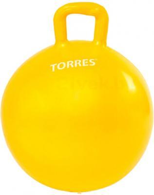 Фитбол с ручкой Torres AL100545 (желтый) - общий вид