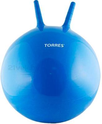 Фитбол с рожками Torres AL100455 (синий) - общий вид