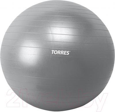 Фитбол гладкий Torres AL100175 (серебристый)