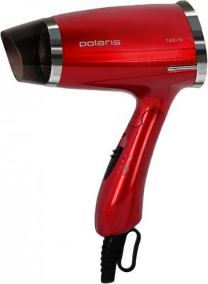 Компактный фен Polaris PHD 1463T (красный) - общий вид