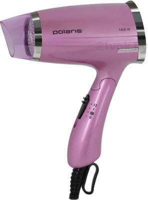 Компактный фен Polaris PHD 1463T (Pink) - общий вид