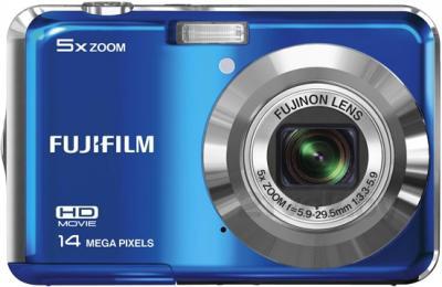 Компактный фотоаппарат Fujifilm FinePix AX600 (Blue) - вид спереди