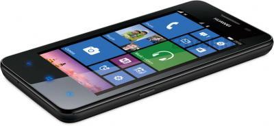 Смартфон Huawei Ascend W2 (Black) - вид лежа
