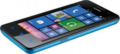 Смартфон Huawei Ascend W2 (Blue) - вид лежа