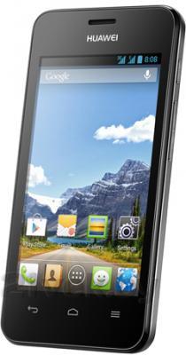 Смартфон Huawei Ascend Y320 (черный) - полубоком