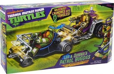 """Игровой набор Playmates Toys """"Черепашки Ниндзя"""" Патрульные Багги: Лео и Дон (94033) - коробка"""