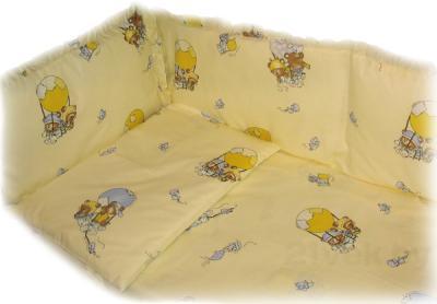 Бампер Ночка Мишки на воздушном шаре - общий вид