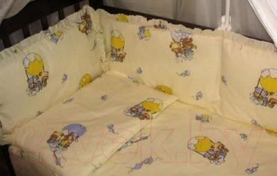 Комплект в кроватку Ночка Мишки на воздушном шаре 4