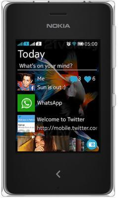 Мобильный телефон Nokia Asha 500 Dual (White) - общий вид