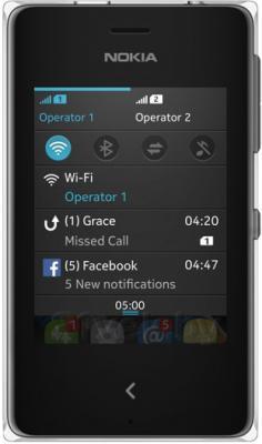 Мобильный телефон Nokia Asha 500 Dual (Black) - общий вид