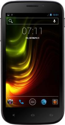 Смартфон Fly IQ4404 (черный) - общий вид