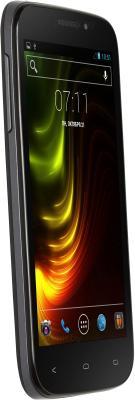 Смартфон Fly IQ4404 (черный) - полубоком