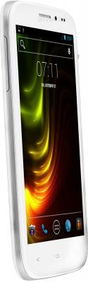 Смартфон Fly IQ4404 (белый) - полубоком