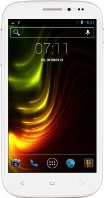 Смартфон Fly IQ4404 (белый) - общий вид