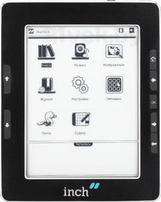 Электронная книга Inch S5i (Black) - фронтальный вид