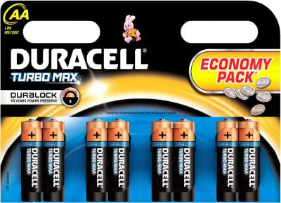 Батарейки АА Duracell TurboMax LR6 (8шт) - общий вид