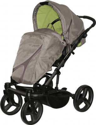 Детская универсальная коляска Lorelli Laguna (Caramel-Green) - прогулочная