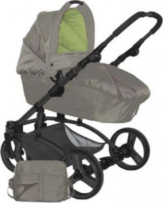 Детская универсальная коляска Lorelli Laguna (Caramel-Green) - общий вид