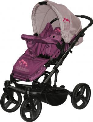 Детская универсальная коляска Lorelli Laguna (Violet Pink Flowers) - прогулочная