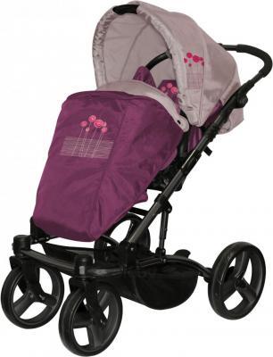 Детская универсальная коляска Lorelli Laguna (Violet Pink Flowers) - общий вид