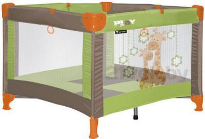 Игровой манеж Lorelli Play (Green Beige Giraffes) - общий вид