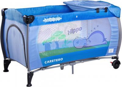 Кровать-манеж Caretero Medio Safari (Blue) - общий вид